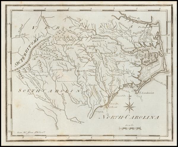 54-North Carolina Map By Joseph Scott