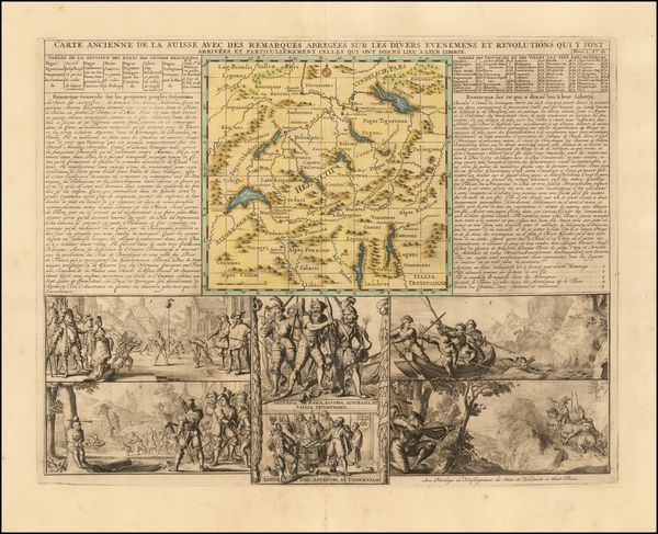 100-Switzerland Map By Henri Chatelain