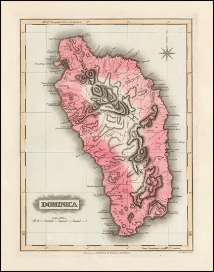 38-Caribbean Map By Fielding Lucas Jr.