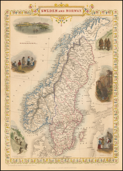 10-Sweden and Norway Map By John Tallis