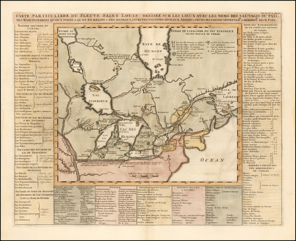 79-Midwest, Plains and Canada Map By Henri Chatelain