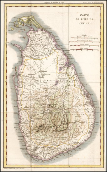90-India, Other Islands and Sri Lanka Map By G Lemaitre
