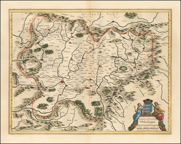 Romania Map By Willem Janszoon Blaeu