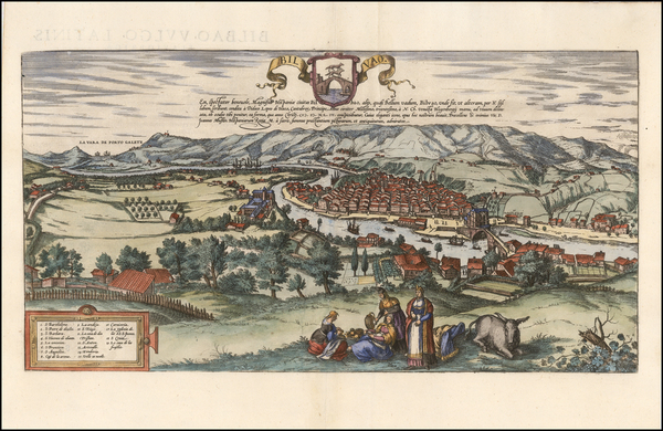 18-Spain Map By Georg Braun  &  Frans Hogenberg
