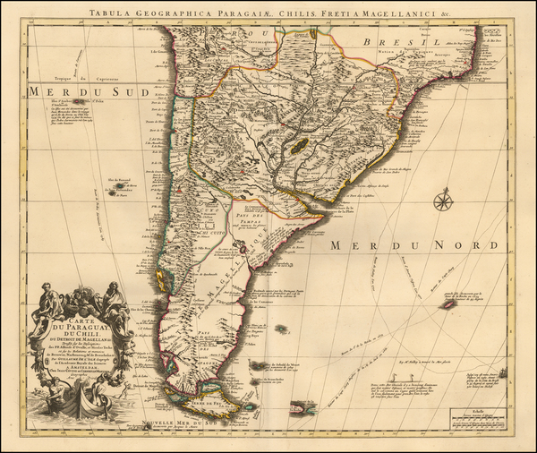 60-South America Map By Johannes Covens  &  Cornelis Mortier