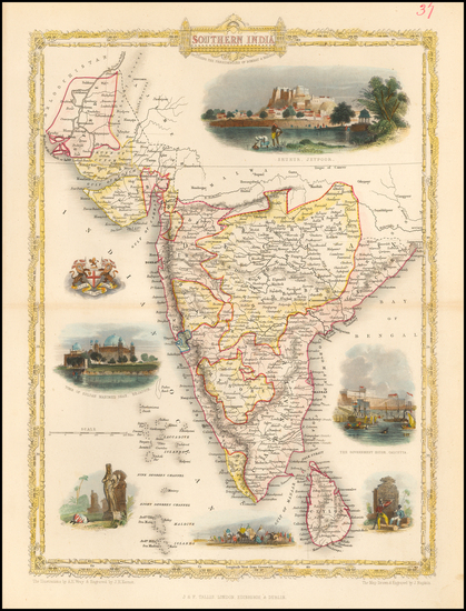 29-India and Other Islands Map By John Tallis
