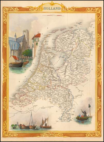 26-Netherlands Map By John Tallis