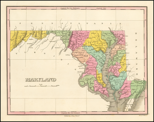 60-Maryland Map By Anthony Finley