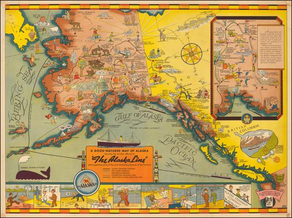 54-Alaska Map By Edward Camy
