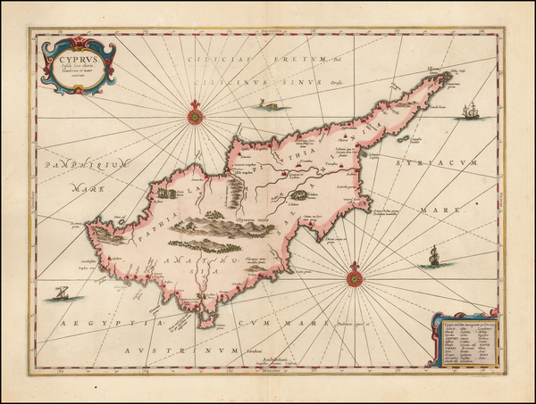 24-Cyprus Map By Jan Jansson