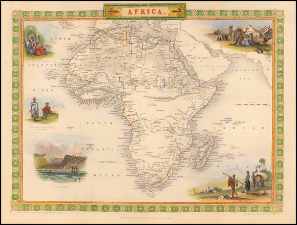 93-Africa and Africa Map By John Tallis