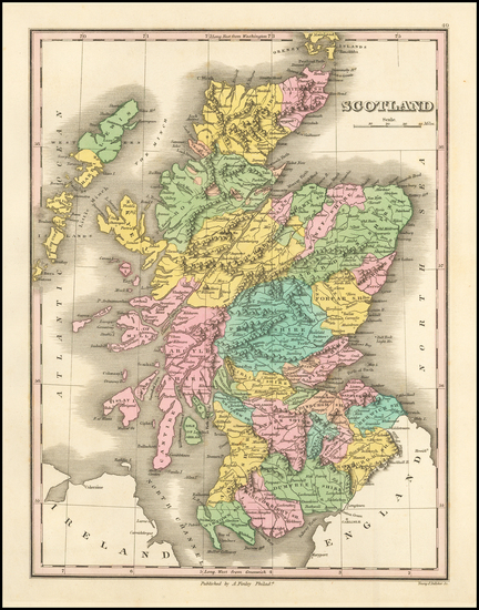 62-Scotland Map By Anthony Finley