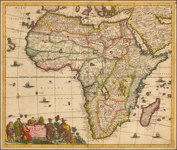 3-Africa and Africa Map By Justus Danckerts