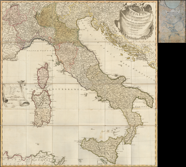 57-Italy Map By Artaria & Co.