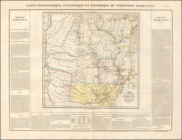12-Arkansas, Texas, Midwest, Plains, Southwest and Rocky Mountains Map By Jean Alexandre Buchon