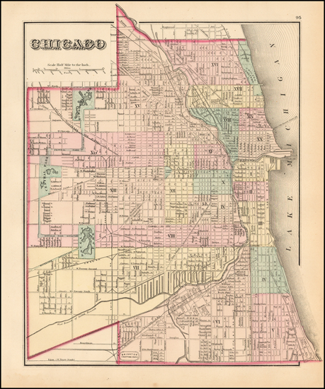 47-Midwest, Illinois and Chicago Map By O.W. Gray