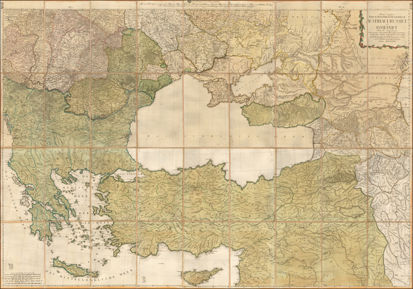 Austria, Russia, Hungary, Romania, Balkans, Greece, Central Asia & Caucasus and Turkey & Asia Minor Map By Johann Christoph Rhode