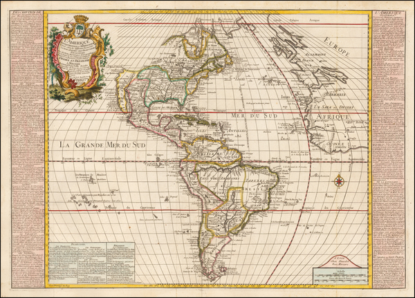 41-South America and America Map By Louis Pierre Daudet