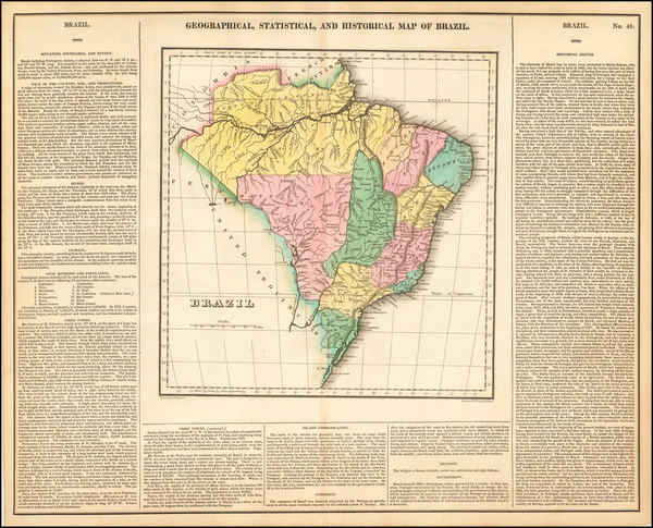 16-Brazil Map By Henry Charles Carey  &  Isaac Lea