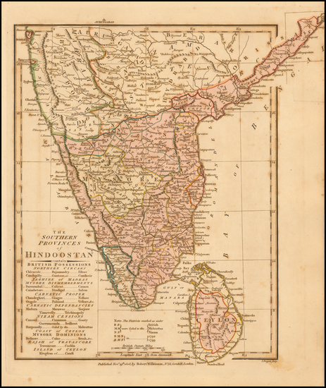 28-India Map By Robert Wilkinson
