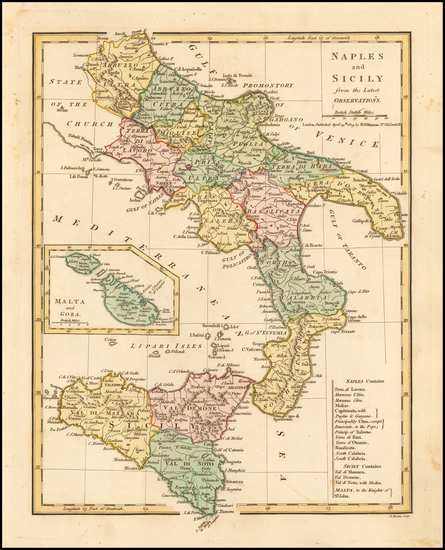 97-Southern Italy and Sicily Map By Robert Wilkinson