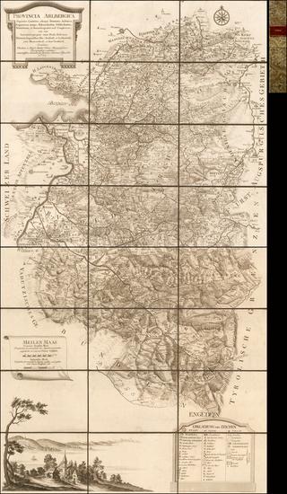 2-Austria Map By Blasius Hueber