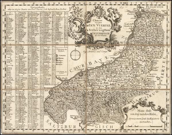 87-Austria Map By Artaria & Co.