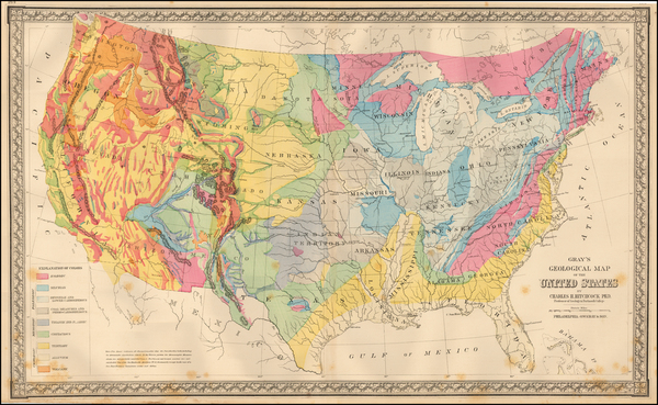 55-United States Map By O.W. Gray & Son