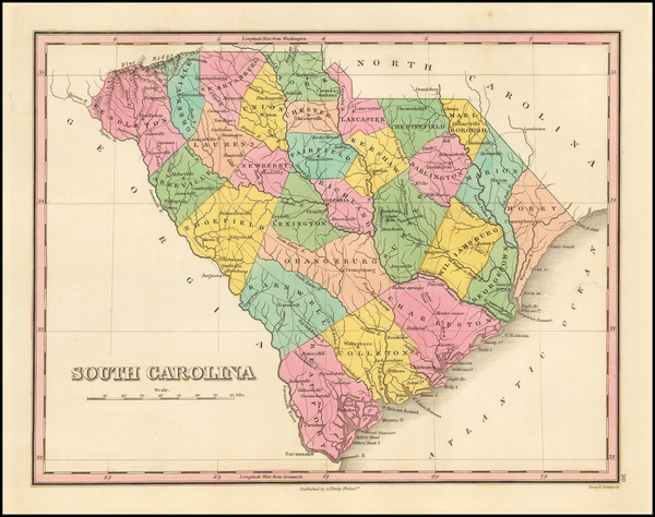 65-Southeast and South Carolina Map By Anthony Finley