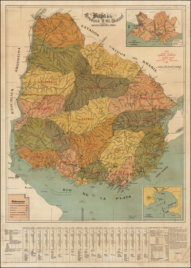 27-South America and Uruguay Map By Arturo Carbonell Debali
