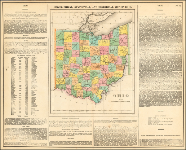 7-Ohio Map By Henry Charles Carey  &  Isaac Lea