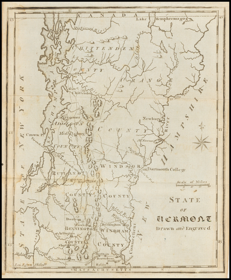 100-New England and Vermont Map By Joseph Scott