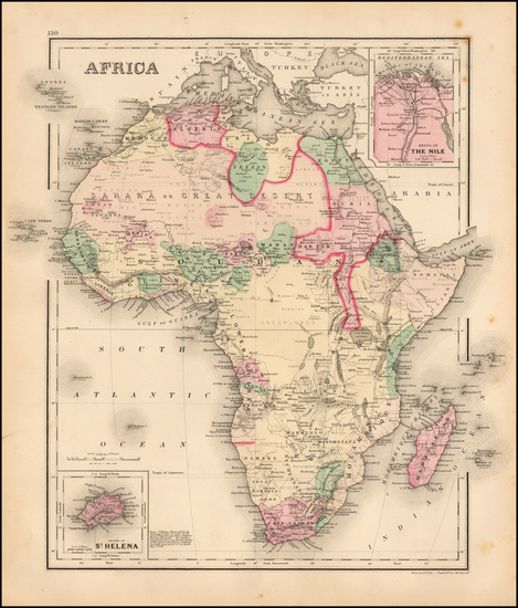 70-Africa and Africa Map By O.W. Gray