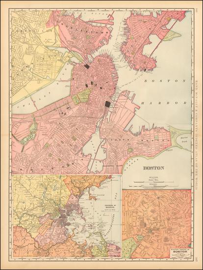 86-New England Map By Rand McNally & Company
