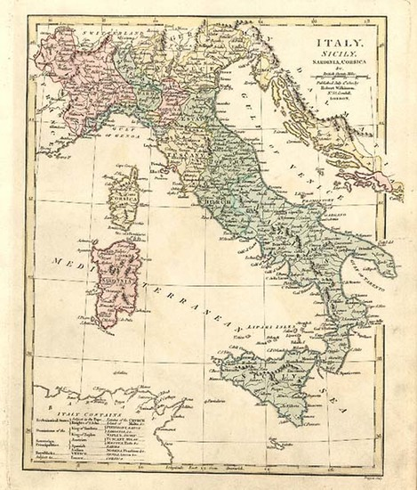 16-Europe, Italy and Balearic Islands Map By Robert Wilkinson