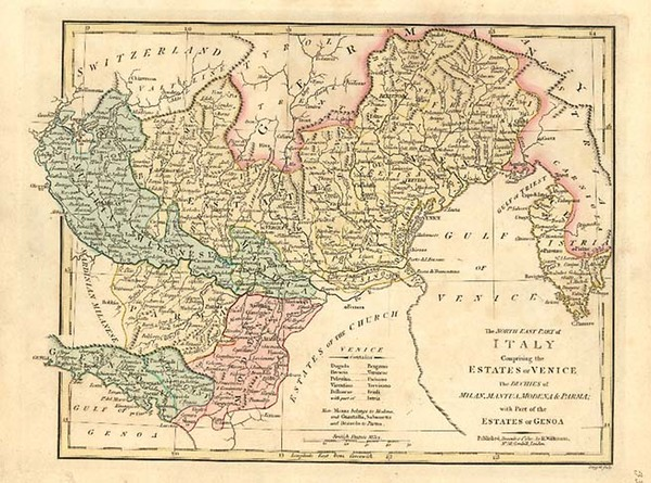59-Europe and Italy Map By Robert Wilkinson
