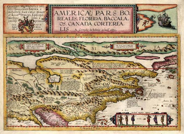 10-World, Polar Maps, United States and North America Map By Cornelis de Jode