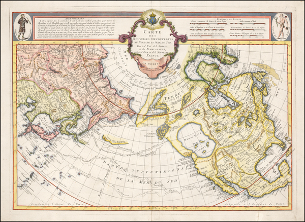 61-Alaska, North America, China, Japan, Korea and Russia in Asia Map By Francois Santini