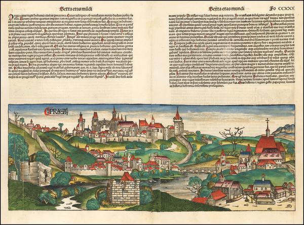 43-Czech Republic & Slovakia Map By Hartmann Schedel