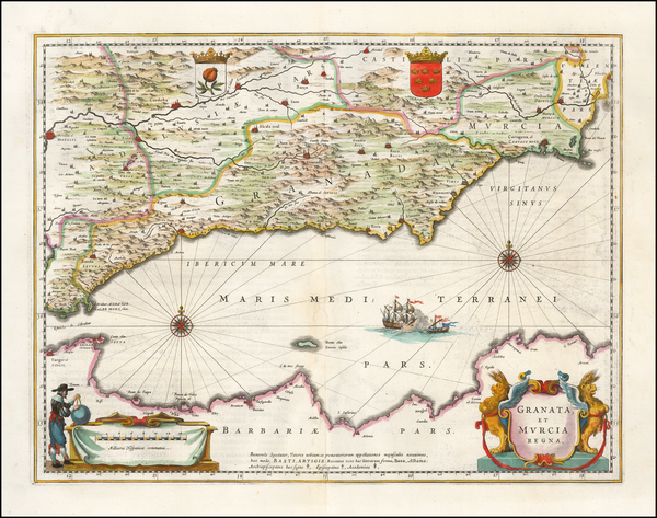 42-Spain Map By Willem Janszoon Blaeu