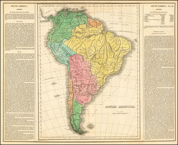 11-South America Map By Carey  &  Lea