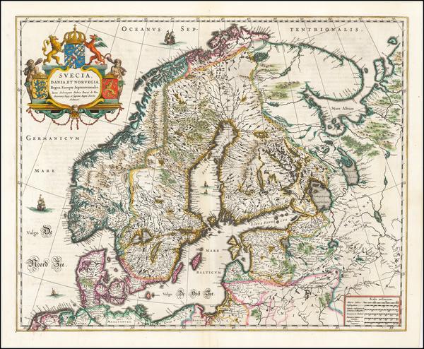 84-Scandinavia Map By Willem Janszoon Blaeu