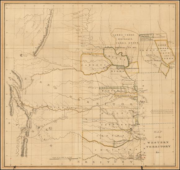 20-Plains, Nebraska, Oklahoma & Indian Territory and Southwest Map By Washington Hood