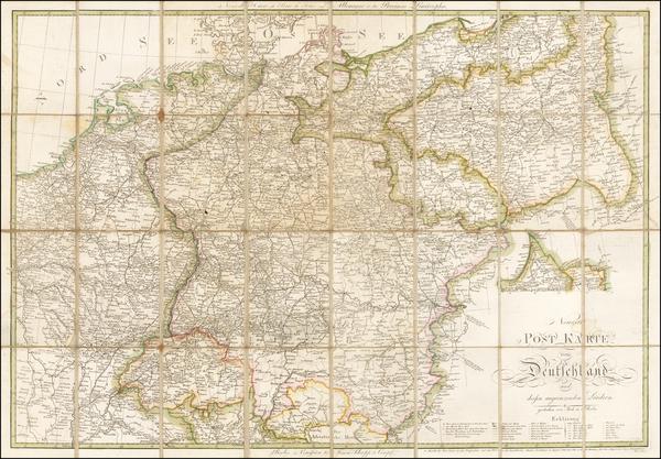 57-Germany and Austria Map By Karl Jack / Wilhelm Heinrich Matthias