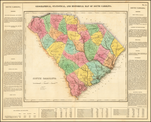 72-Southeast and South Carolina Map By Henry Charles Carey  &  Isaac Lea