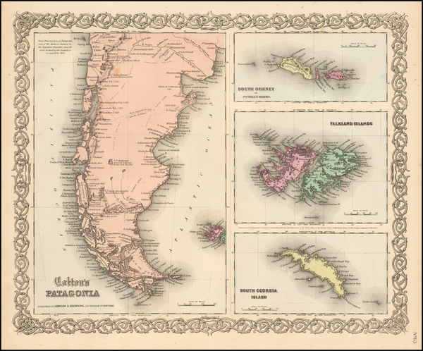 5-South America, Australia & Oceania and Other Pacific Islands Map By Joseph Hutchins Colton
