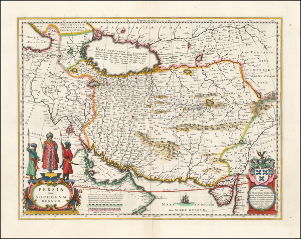 95-Persia Map By Willem Janszoon Blaeu