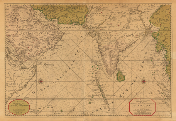27-Indian Ocean, India and Middle East Map By Pieter Mortier