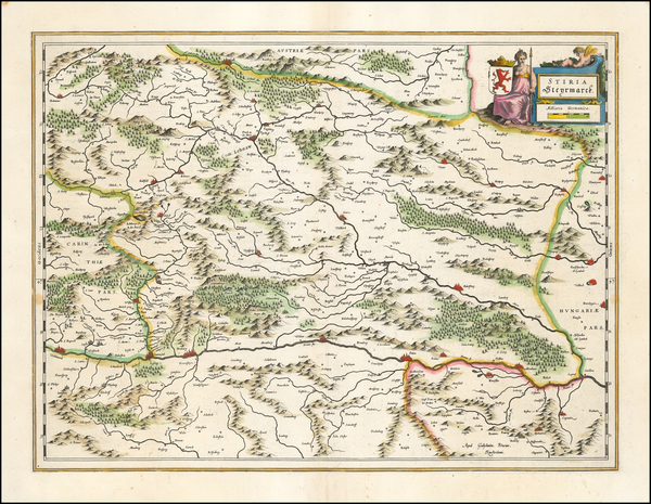 19-Austria Map By Willem Janszoon Blaeu