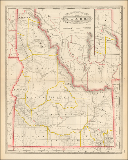 44-Idaho Map By George F. Cram